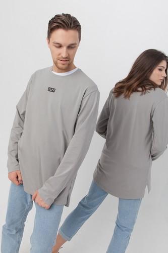 Лонгслив удлиненный ЗАРЯ Лангли (Серый, XL)