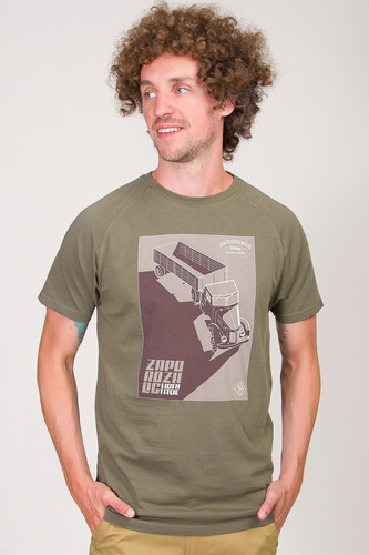Футболка ЗАПОРОЖЕЦ Truch (Truck Green, XL) шлепки запорожец запорожец green dark green 44 45