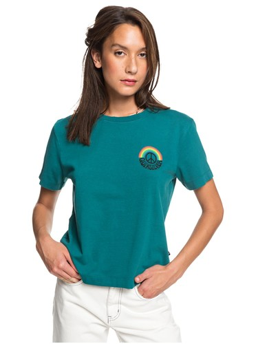 Женская футболка Quiksilver Womens TEAL GREEN (bsj0) фото 3