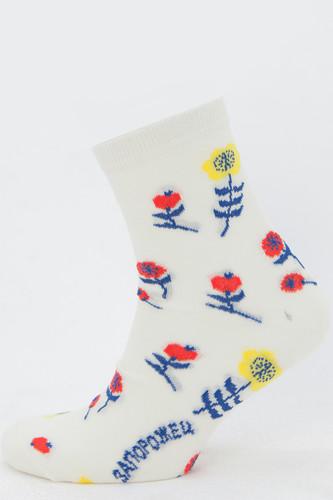 Носки ЗАПОРОЖЕЦ Цветы (Молочный, 35-40)