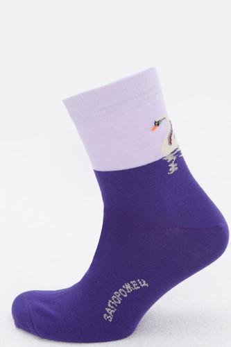 Носки ЗАПОРОЖЕЦ Лебедь (Темно-Фиолетовый, 41-45)