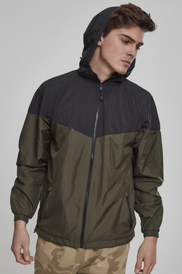 Ветровка URBAN CLASSICS 2-Tone Tech Windrunner Black/Dark Olive фото