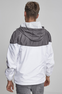 Ветровка URBAN CLASSICS 2-Tone Tech Windrunner Dark Grey/White фото 2