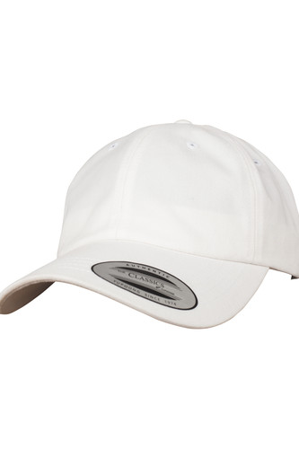 Бейсболка YUPOONG Peached Cotton Twill Dad Cap (White, O/S)