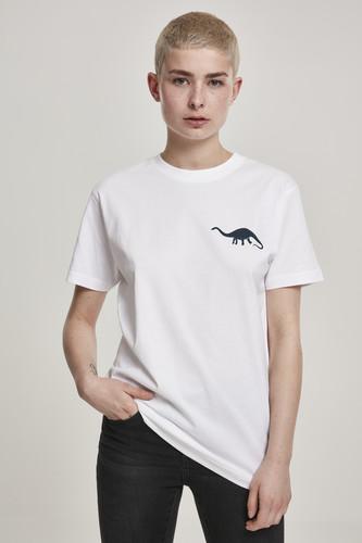 Футболка MISTER TEE Ladies Jurassic Tee (White, L) футболка mister tee ufo drop tee white l