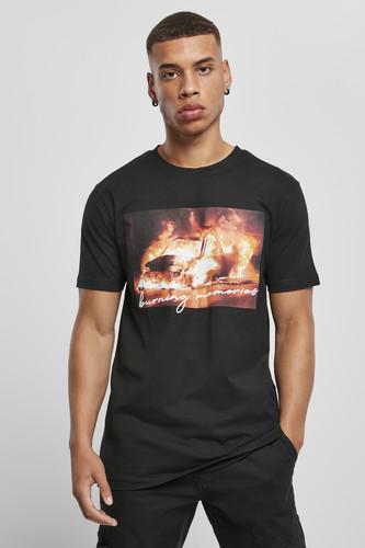Футболка MISTER TEE Burning Car Tee (Black, 2XL) футболка mister tee marvel logo tee black m