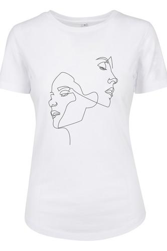 Футболка MISTER TEE Ladies One Line Fit Tee (White, XS) футболка mister tee ufo drop tee white l