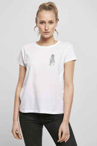 Футболка MISTER TEE Ladies One Line Hand Box Tee (White, XS) футболка mister tee ufo drop tee white l