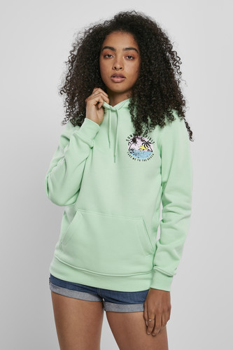 Толстовка MISTER TEE Ladies Summer Spirit Hoody (Neo Mint, L)