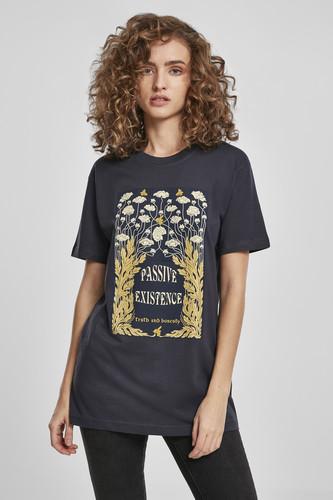 Футболка MISTER TEE Ladies Existence Tee (Navy, L) футболка mister tee ufo drop tee white l
