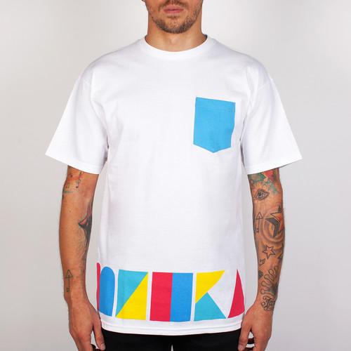 Футболка MISHKA Cyrillic Mosaic Pocket Tee (White, M) футболка mishka paralyzed tee black m
