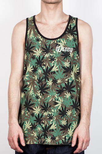 Фото - Майка CAYLER & SONS Weezy Tank-Top (Hemp-Camo-White, S) knot front crop ribbed tank top