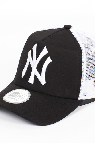 Бейсболка NEW ERA Clean Trucker NY Black (Black-White, O/S)