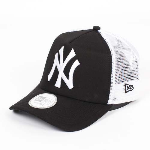 Бейсболка NEW ERA Clean Trucker NY Black (Black-White, O/S) бейсболка new era 940 league basic ny scarlet white o s