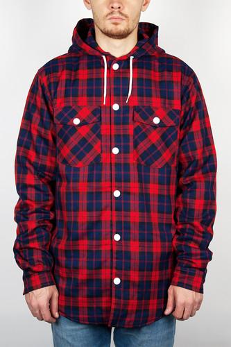 Рубашка CLWR Hooder Shirt (Red-Check, L) недорого