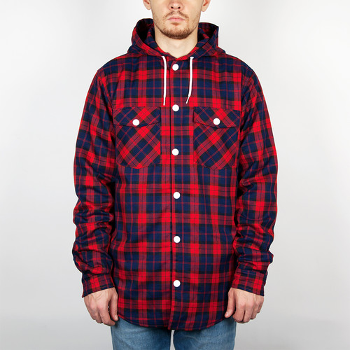 Рубашка CLWR Hooder Shirt (Red-Check, L) рубашка penfield nolan check shirt green m
