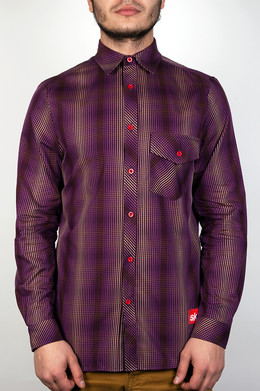 Рубашка SKILLS Check Shirt Purple фото