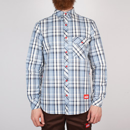 Рубашка SKILLS Check Shirt White/Blue фото