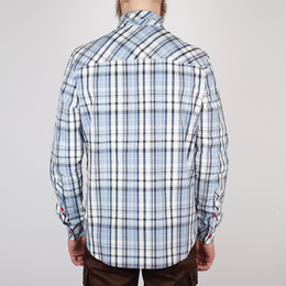 Рубашка SKILLS Check Shirt White/Blue фото 2