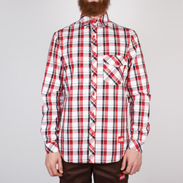 Рубашка SKILLS Check Shirt Red/Grey фото