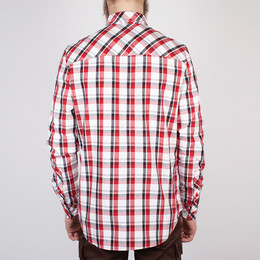 Рубашка SKILLS Check Shirt Red/Grey фото 2