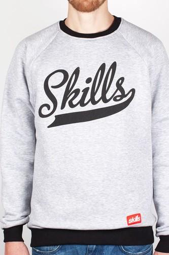 Толстовка SKILLS Script Logo (Grey-Black, L)