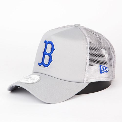 Бейсболка NEW ERA Gray Base Trucker Bosred (Grey/Royal, O/S) бейсболка new era hockey trucker torlea navy o s