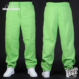 Брюки URBAN CLASSICS Sweatpants Limegreen фото