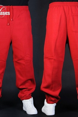 Брюки URBAN CLASSICS Sweatpants Red фото