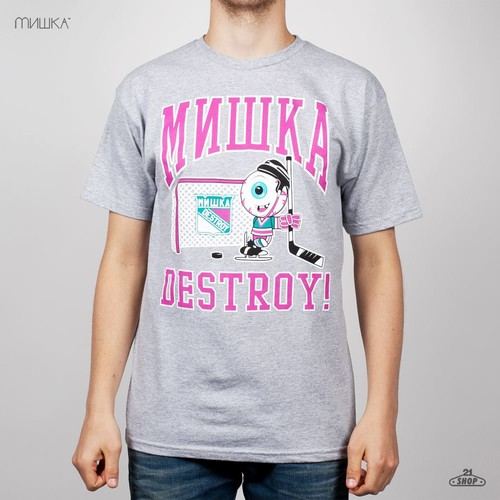 Футболка MISHKA High Sticking T-Shirt (Athletic-Heather, L) футболка mishka davy jones locker white l