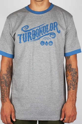 Футболка TURBOKOLOR Turbokolor SS13 (Grey-Navy, L)