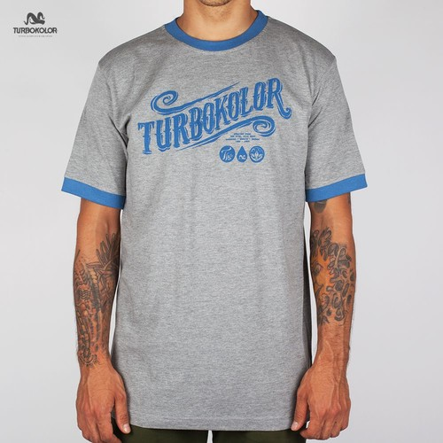 Футболка TURBOKOLOR Turbokolor SS13 (Grey-Navy, L) футболка turbokolor pocket slim fit ss13 heather red m