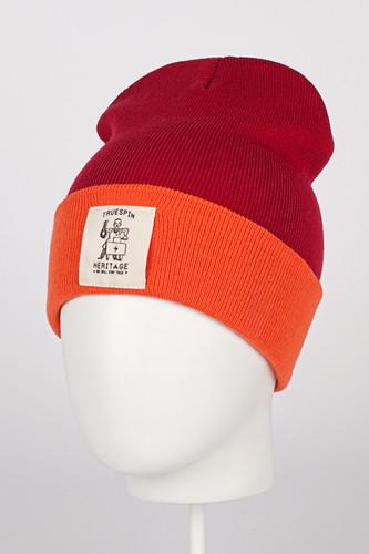 цена на Шапка TRUESPIN Heritage Classic Beanie (Red/Orange)