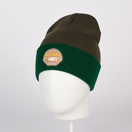 Шапка TRUESPIN Nice To Meat You_Classic Beanie (Olive/Green) шапка truespin abc fw15 black black w