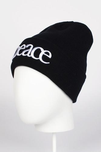 цена Шапка TRUESPIN Peace Beanie (Black) онлайн в 2017 году