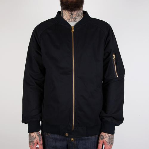 Куртка CROOKS & CASTLES Maverick Bomber Jacket (True Navy, 2XL) rib faux leather zip up bomber jacket