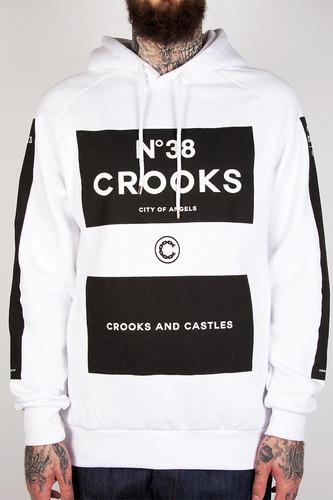 Толстовка CROOKS & CASTLES Klepto Hooded Pullover (White, M)