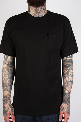 Футболка CROOKS & CASTLES Slub Pocket T-Shirt (Black, 2XL)