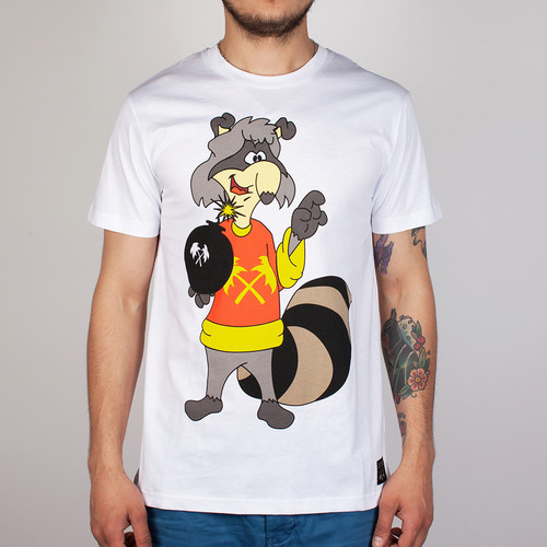 Футболка TRAINERSPOTTER Racoon Bombin (White, L) футболка trainerspotter felix dynamite white l