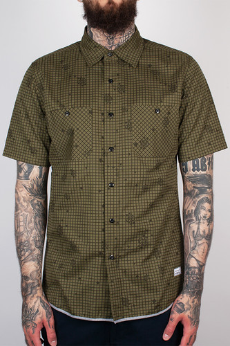 Рубашка CROOKS & CASTLES - Recon S/S Shirt (Military Multy, L)