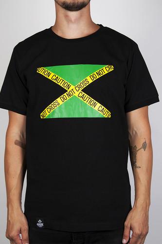 Футболка OSK Ямайка Флаг (Черный, XL)