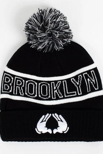 Шапка CAYLER & SONS Brooklyn Pom Pom Beanie AW13 (Black-White) цена