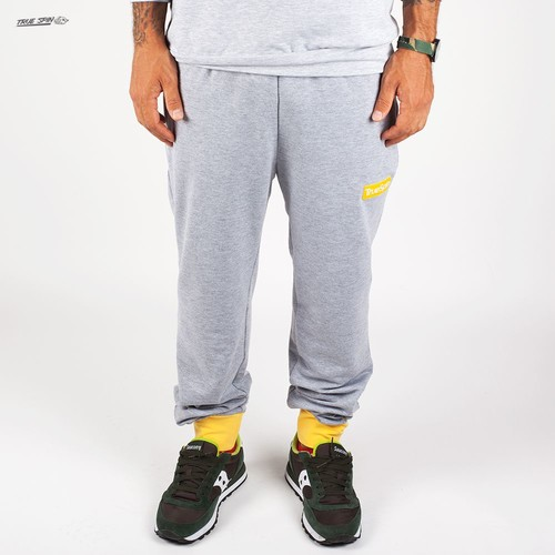 лучшая цена Брюки TRUESPIN Easy Sweatpant (Grey/Yellow, S)