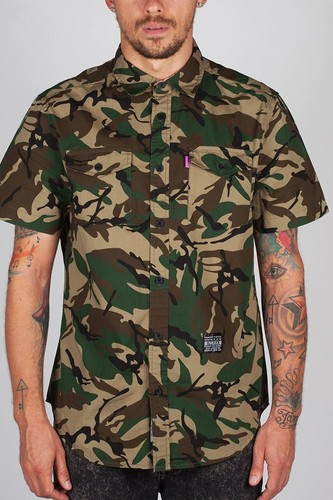 Рубашка MISHKA Paradise Jungle Button-Up (Camo, L)