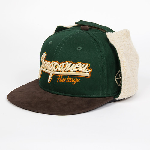 Бейсболка ЗАПОРОЖЕЦ Dog-Ears Snapback Embroidery (Green, S/M)