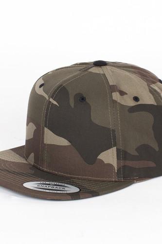 Бейсболка YUPOONG Camouflage Snapback (Wood-Camouflage, O/S) шапка footwork flexfit yupoong light grey