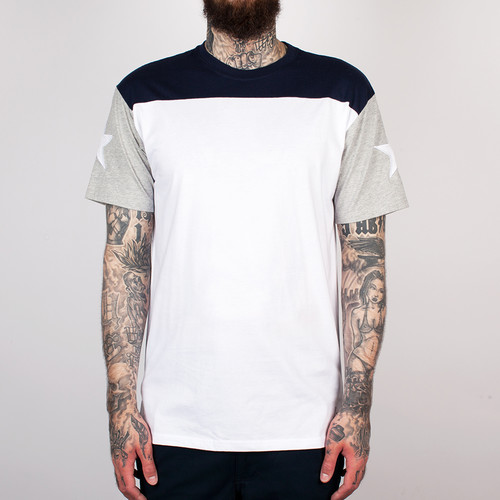 Футболка CROOKS & CASTLES - Shining Football T-Shirt (White, XL) 3d fire football short sleeve t shirt