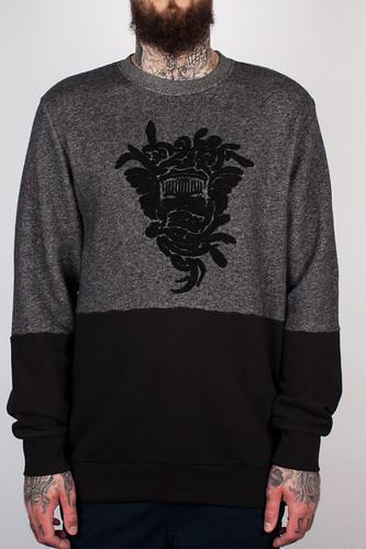 цена на Толстовка CROOKS & CASTLES - Revolter Crew Sweatshirt (Speckle Black, XL)