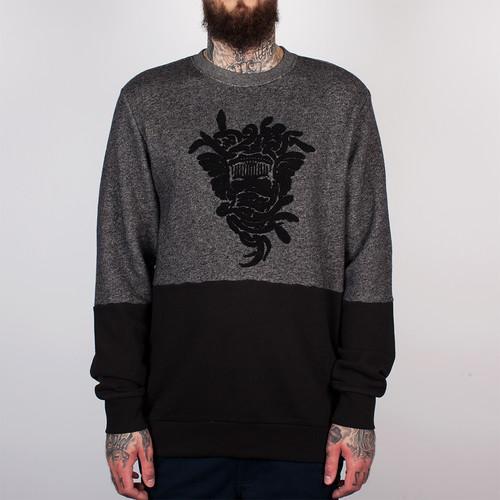 Толстовка CROOKS & CASTLES - Revolter Crew Sweatshirt (Speckle Black, XL)