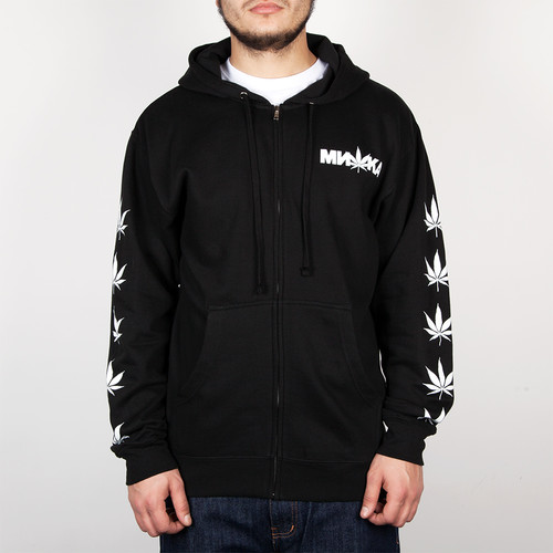 Фото Толстовка MISHKA Cyco Sativa Zip Up Hoodie (Black, L)